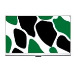 Green Black Digital Pattern Art Business Card Holders Front