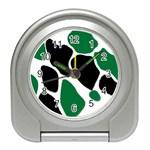 Green Black Digital Pattern Art Travel Alarm Clocks Front