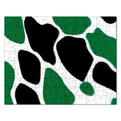 Green Black Digital Pattern Art Rectangular Jigsaw Puzzl