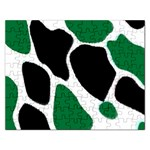 Green Black Digital Pattern Art Rectangular Jigsaw Puzzl Front