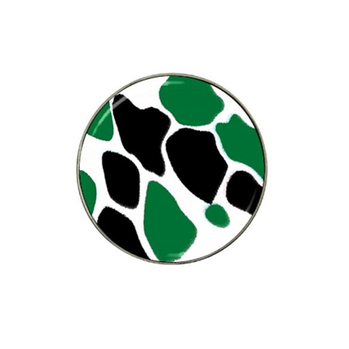 Green Black Digital Pattern Art Hat Clip Ball Marker