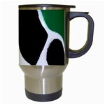 Green Black Digital Pattern Art Travel Mugs (White) Right