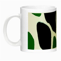 Green Black Digital Pattern Art Night Luminous Mugs