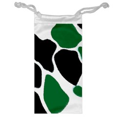 Green Black Digital Pattern Art Jewelry Bags