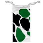 Green Black Digital Pattern Art Jewelry Bags Front