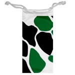 Green Black Digital Pattern Art Jewelry Bags Back