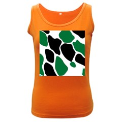 Green Black Digital Pattern Art Women s Dark Tank Top