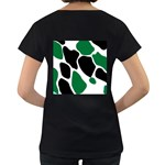 Green Black Digital Pattern Art Women s Loose-Fit T-Shirt (Black) Back