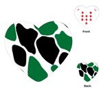 Green Black Digital Pattern Art Playing Cards (Heart)  Front