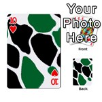 Green Black Digital Pattern Art Playing Cards 54 Designs  Front - Heart10
