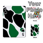Green Black Digital Pattern Art Playing Cards 54 Designs  Front - Spade5
