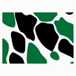 Green Black Digital Pattern Art Collage Prints 18 x12 Print - 3
