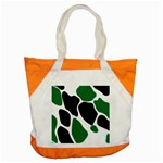 Green Black Digital Pattern Art Accent Tote Bag Front