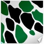 Green Black Digital Pattern Art Canvas 12  x 12   12 x12 Canvas - 1