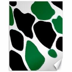 Green Black Digital Pattern Art Canvas 18  x 24