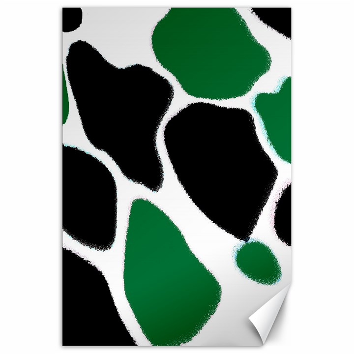 Green Black Digital Pattern Art Canvas 20  x 30