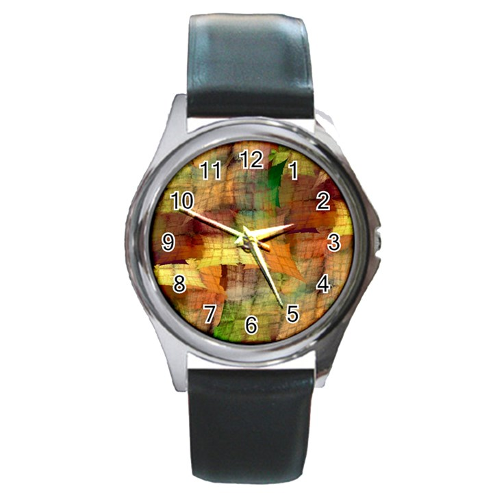 Indian Summer Funny Check Round Metal Watch