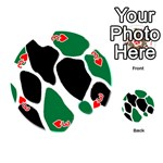 Green Black Digital Pattern Art Playing Cards 54 (Round)  Front - Heart3