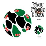 Green Black Digital Pattern Art Playing Cards 54 (Round)  Front - Heart10