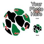 Green Black Digital Pattern Art Playing Cards 54 (Round)  Front - Diamond6