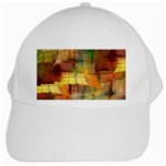 Indian Summer Funny Check White Cap Front