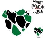 Green Black Digital Pattern Art Playing Cards 54 (Heart)  Front - Spade6