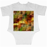 Indian Summer Funny Check Infant Creepers Back