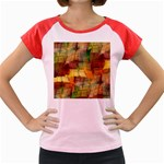 Indian Summer Funny Check Women s Cap Sleeve T-Shirt Front