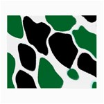 Green Black Digital Pattern Art Small Glasses Cloth (2-Side) Front