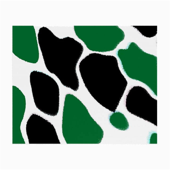 Green Black Digital Pattern Art Small Glasses Cloth (2-Side)