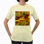 Indian Summer Funny Check Women s Yellow T-Shirt Front