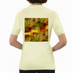 Indian Summer Funny Check Women s Yellow T-Shirt Back
