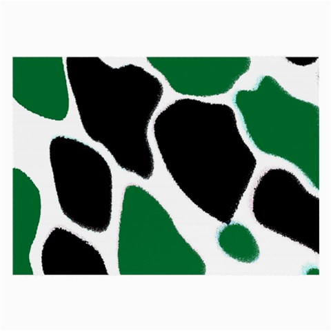 Green Black Digital Pattern Art Large Glasses Cloth