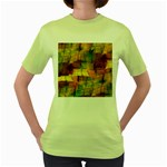 Indian Summer Funny Check Women s Green T-Shirt Front