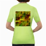Indian Summer Funny Check Women s Green T-Shirt Back