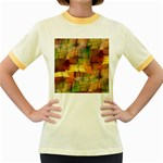 Indian Summer Funny Check Women s Fitted Ringer T-Shirts Front