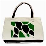 Green Black Digital Pattern Art Basic Tote Bag (Two Sides) Back