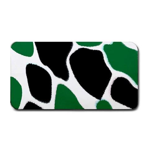 Green Black Digital Pattern Art Medium Bar Mats