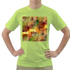 Indian Summer Funny Check Green T Shirt