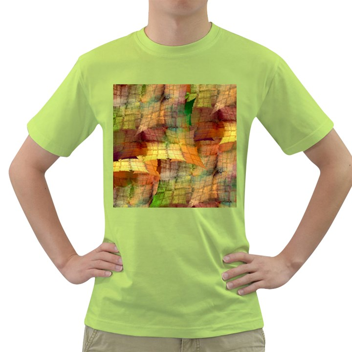 Indian Summer Funny Check Green T-Shirt