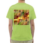 Indian Summer Funny Check Green T-Shirt Back