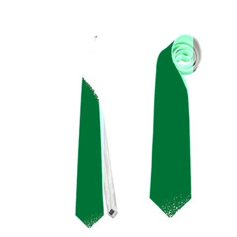 Green Black Digital Pattern Art Neckties (Two Side)