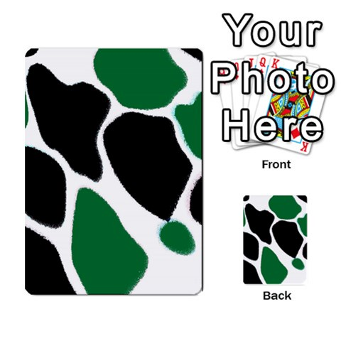 Green Black Digital Pattern Art Multi-purpose Cards (Rectangle)