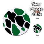 Green Black Digital Pattern Art Multi-purpose Cards (Round)  Back 13