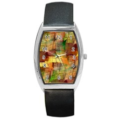 Indian Summer Funny Check Barrel Style Metal Watch