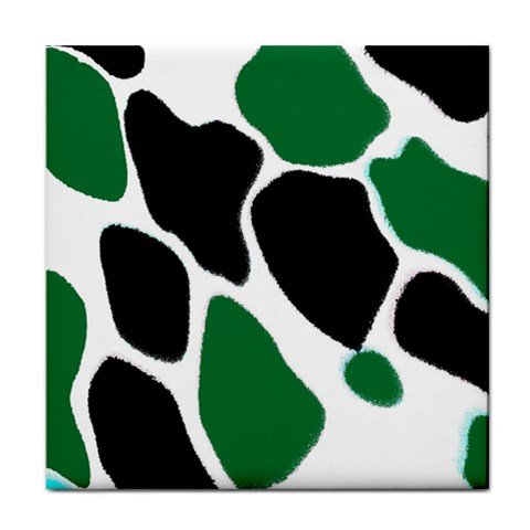 Green Black Digital Pattern Art Face Towel