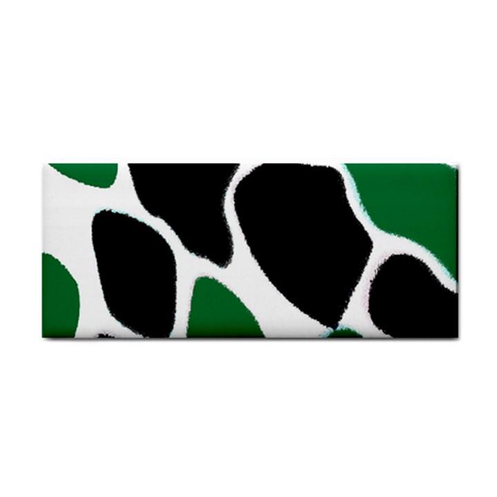Green Black Digital Pattern Art Hand Towel