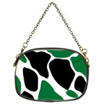 Green Black Digital Pattern Art Chain Purses (Two Sides)  Front