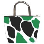 Green Black Digital Pattern Art Bucket Bags Back