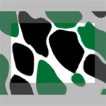 Green Black Digital Pattern Art Mini Canvas 7  x 5  7  x 5  x 0.875  Stretched Canvas
